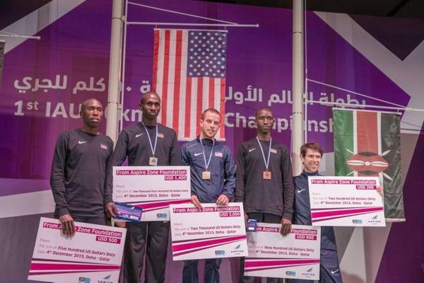 2015 IAU 50k World Championships mens podium