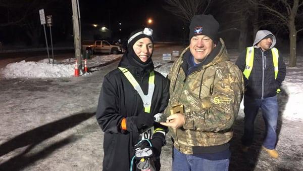 Kristen Hyer - 2016 Beast of Burden 100 Mile winter event champion