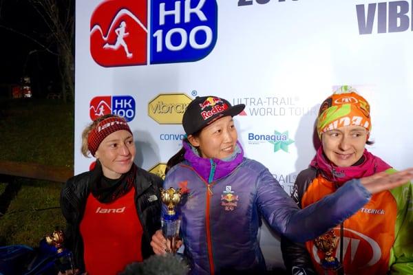2016 Vibram Hong Kong 100k women's podium