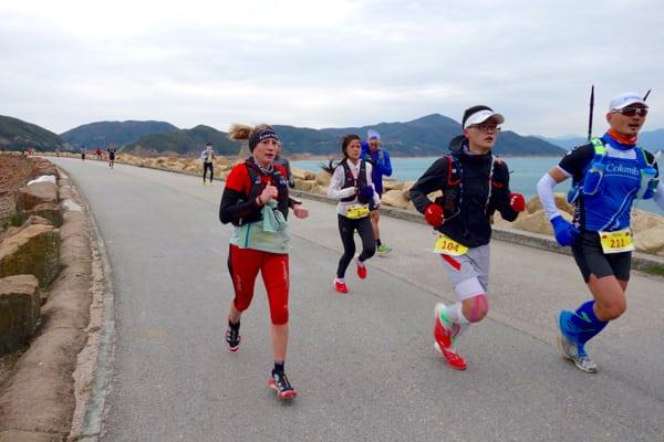 Dong Li and Silvia Trigueros - 2016 Vibram Hong Kong 100k champion and third place