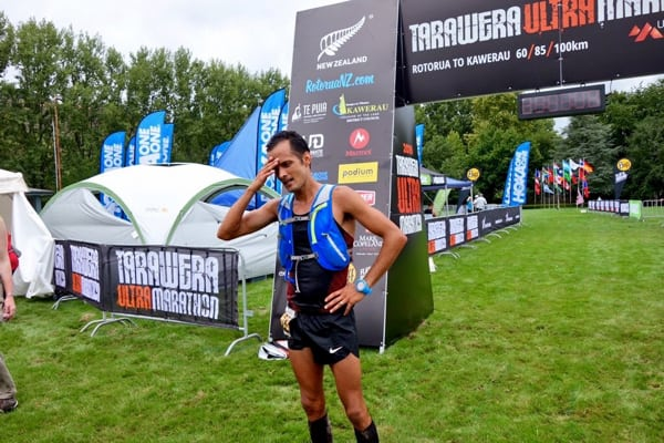 David Byrne - 2016 Tarawera Ultramarathon second place