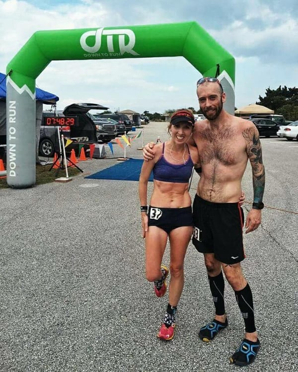 Bren Tompkins and Sara Maltby at 2016 Fort Clinch 50 Mile champions