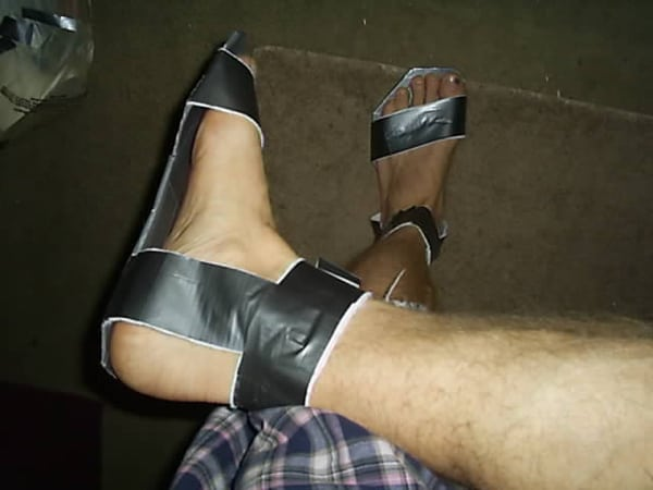 Todd Ragsdale's duct tape shoes