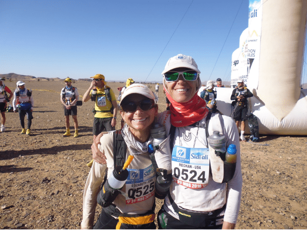 Liza Howard and Meghan Arbogast - 2016 Marathon des Sables
