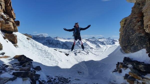 Jason Schlarb - Hardrock 100 course skiing