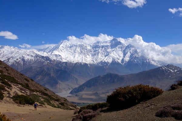 Annapurna from Windy Pass - 2015 Mustang Trail Race