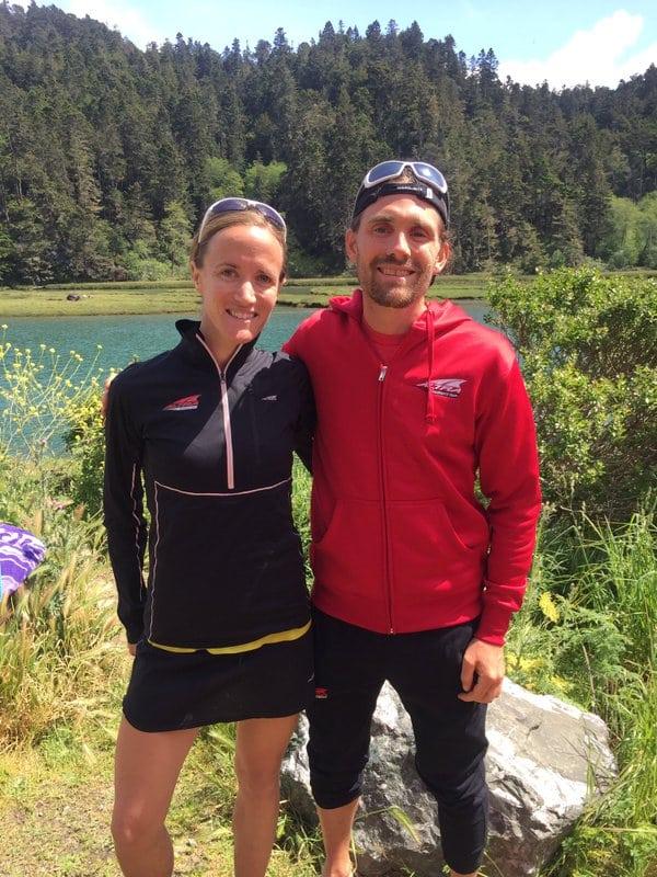 Leslie Howlett and Zach Bitter - 2016 Mendocino Coast 50k champions