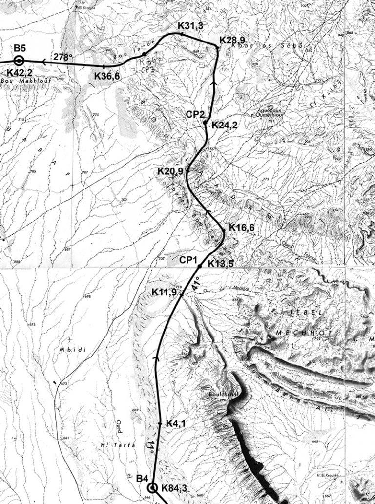 2016 Marathon des Sables Stage 5 Roadbook map