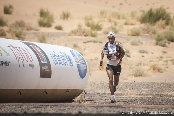 2016 Marathon des Sables Stage 1 - Rachid El Morabity stage winner