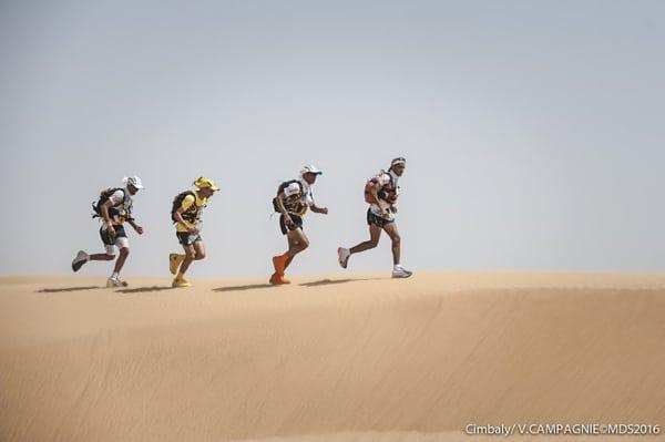 2016 Marathon des Sables Stage 1 - Lead mens pack