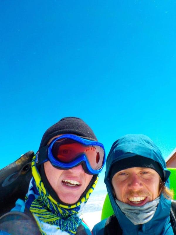 Zach Miller and Brandon Stapanowich summit Pikes Peak