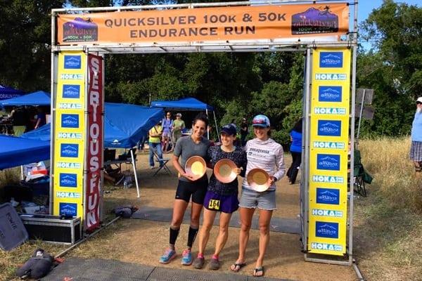 Women's podium - 2016 Quicksilver 100k