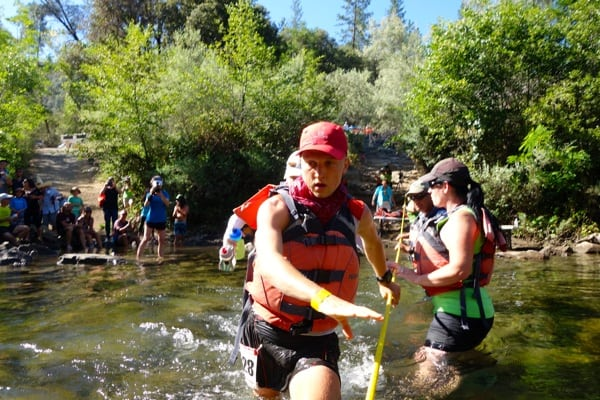 2016 Western States 100 - Andrew Miller - River Crossing