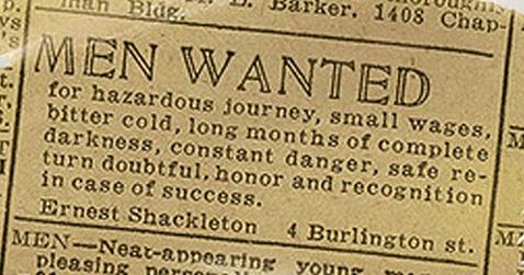 Sir Ernest Henry Shackleton ad