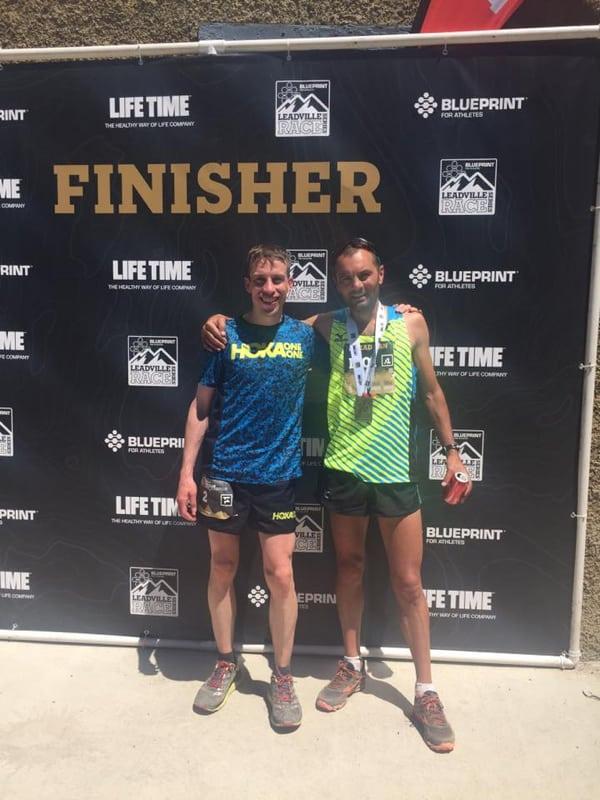 Timothy Parr and Mike Aish - 2016 Leadville Marathon