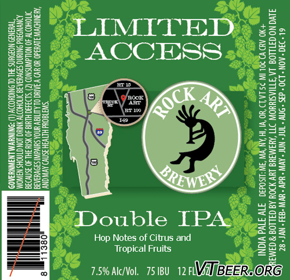 Rock Art Brewery Limited Access