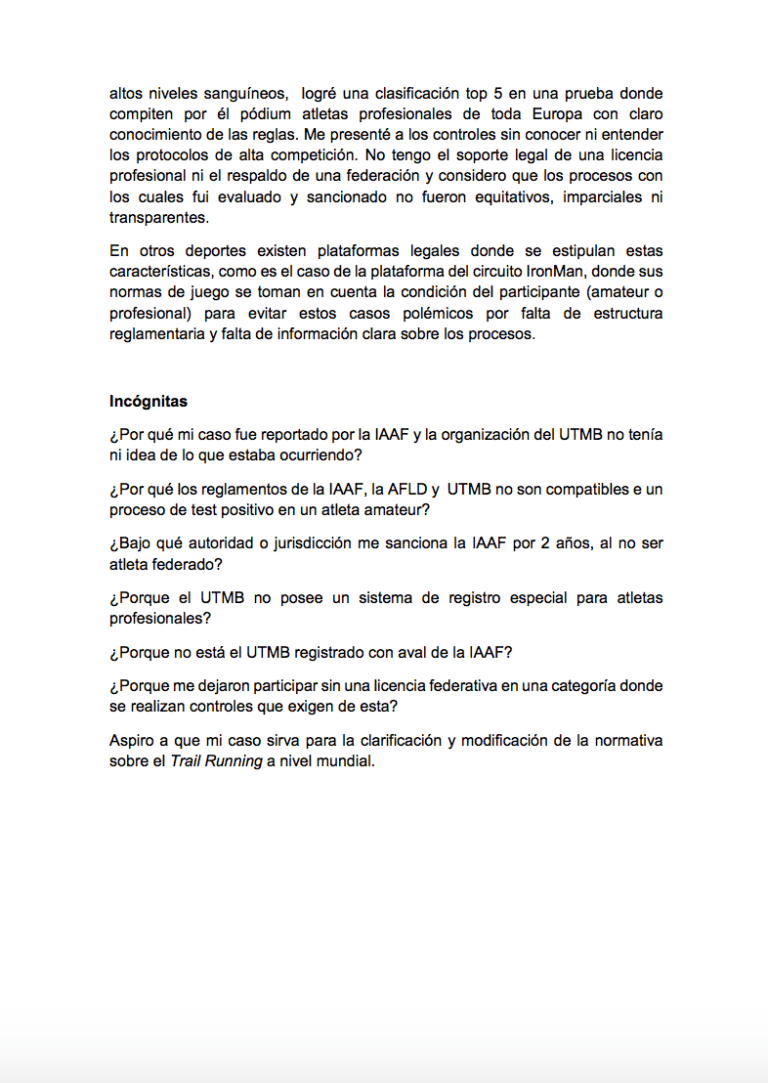 Gonzalo Calisto statement 4