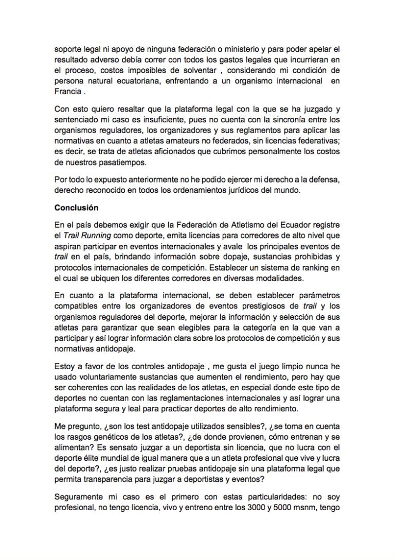 Gonzalo Calisto statement 3