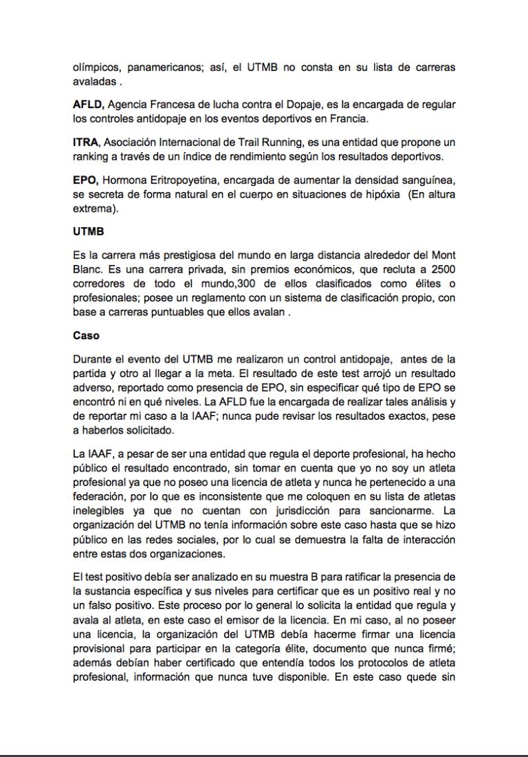 Gonzalo Calisto statement 2