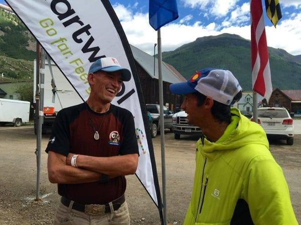 2016 Hardrock 100 - Andy Jones-Wilkins - Kilian Jornet - finish