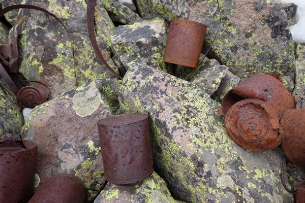 Dives Basin Historic Trash
