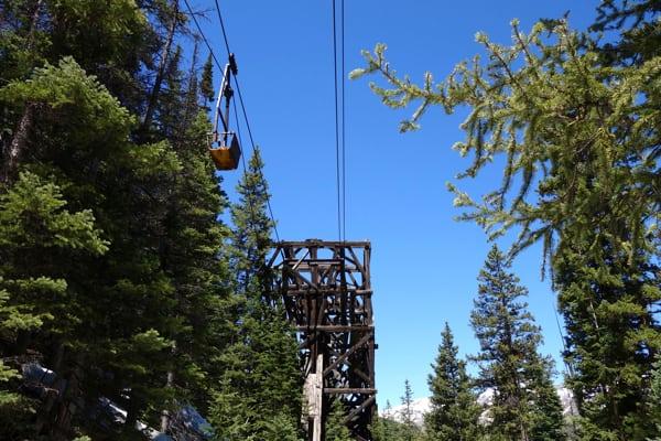 Aerial Tram Over Stony Pass Road Headed to Buffalo Boy Mine