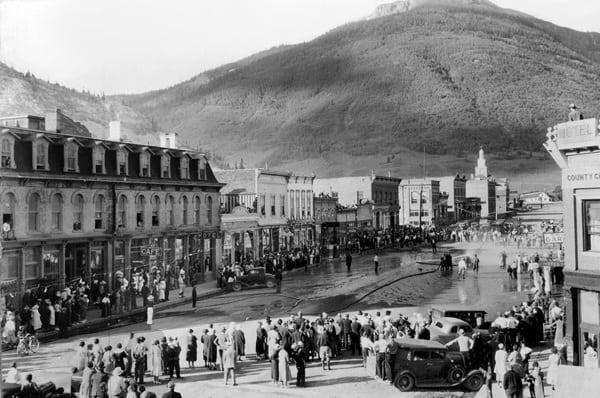 Greene Street - Silverton, Colorado - Labor Day 1936