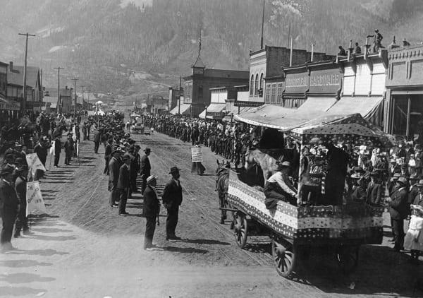 Silverton, Colorado Labor Day Parade 1908 - 12th and Greene