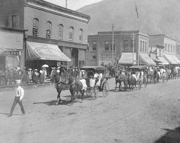 Silverton, Colorado Labor Day Parade 1908