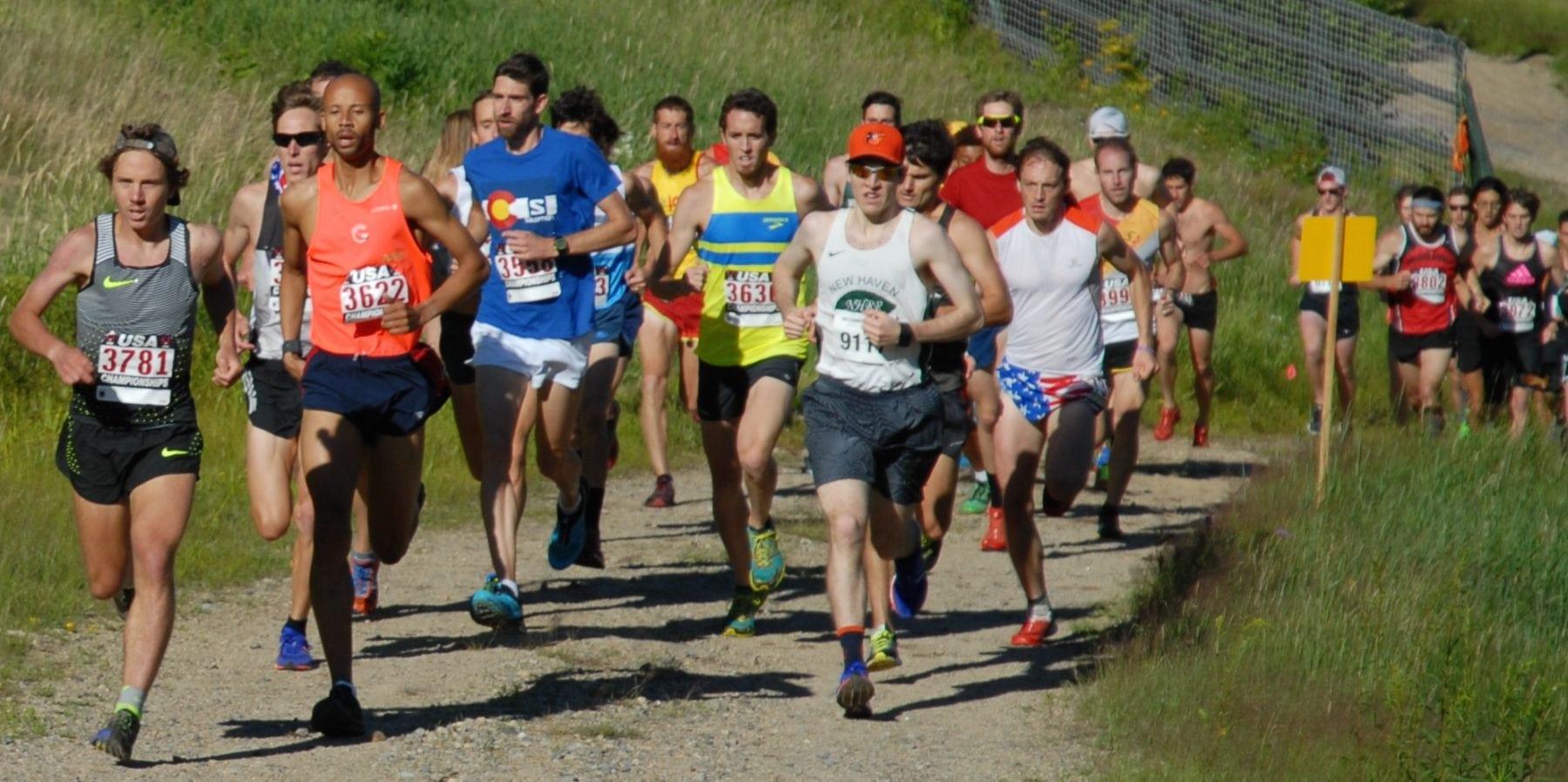 Start of the 2016 US Mountain Running Championships men's race