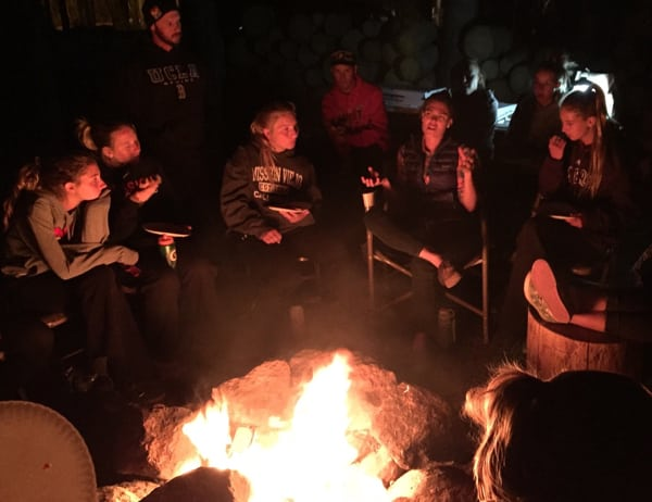 Gina Lucrezi campfire
