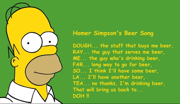 Homer Simpson's Beer Song