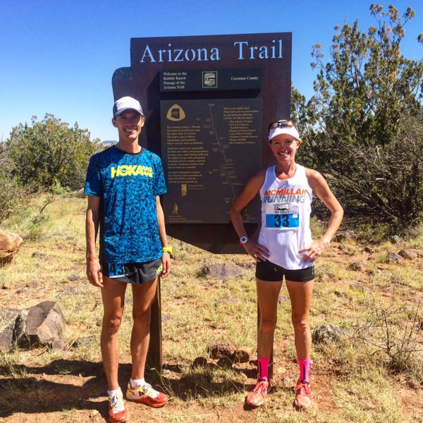 Jim Walmsley and Katie McGee, Flagstaff to Grand Canyon Stagecoach Line 55k winners.