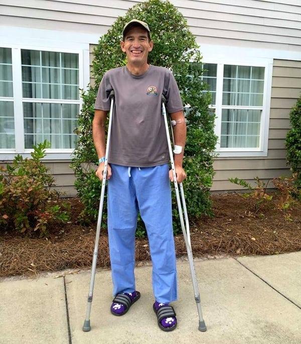 AJW post-surgery crutches