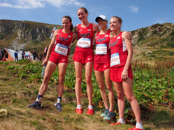 Team USA women at the 2016 World Mountain Running Championships