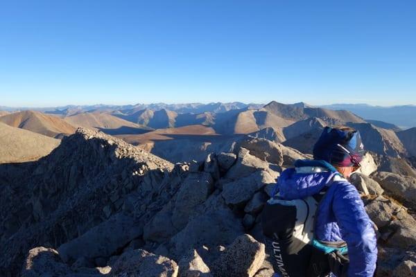Meghan Hicks atop Mount Shavano - 2016 Nolan's 14