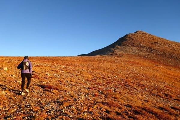 Meghan Hicks climbing Mount Shavano - Nolan's 14 2016