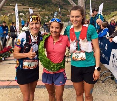 2016 Grand Trail des Templiers - women's podium
