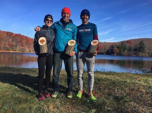 David Kilgore, Mike Siudy and Laura Kline - 2016 Black Rock 25k Champions