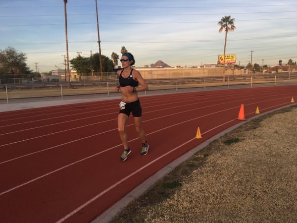 Gina Slaby - 100-mile world record - low light