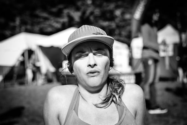 2016 The North Face Endurance Challenge 50 Mile Championships - Clare Gallagher finish