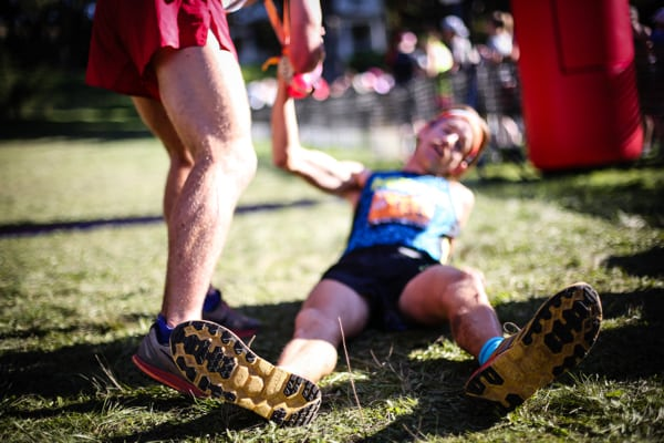 2016 The North Face Endurance Challenge 50 Mile Championships - Hayden Hawks finish