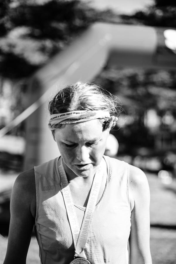 2016 The North Face Endurance Challenge 50 Mile Championships - Ida Nilsson finish