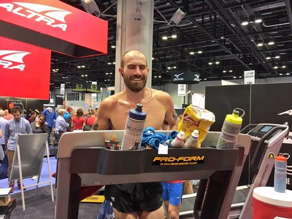 Jacob Puzey - 2016 50-mile treadmill world record