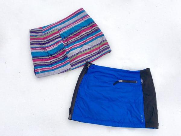 Skhoop Gretchen WINDSTOPPER Skirt And Smartwool Corbet 120 Printed Skirt