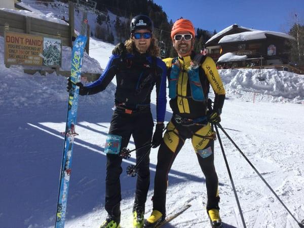 Joe Grant and Anton Krupicka - 2017 U.S. National Ski Mountaineering Championships