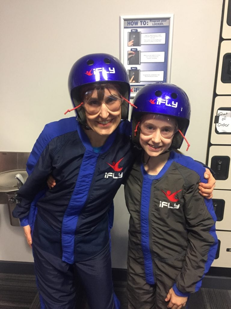 Pam and Meghan Smith indoor skydiving