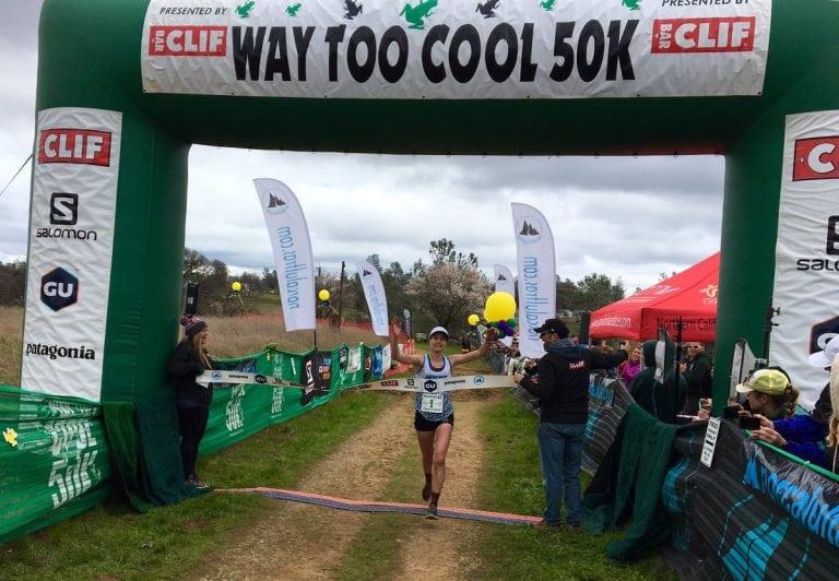 Megan Roche - 2017 Way Too Cool 50k champion