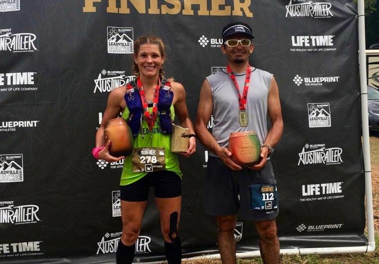 Michele Yates and Wesley Sandoval - 2017 Rattler Races Run-Bike champions