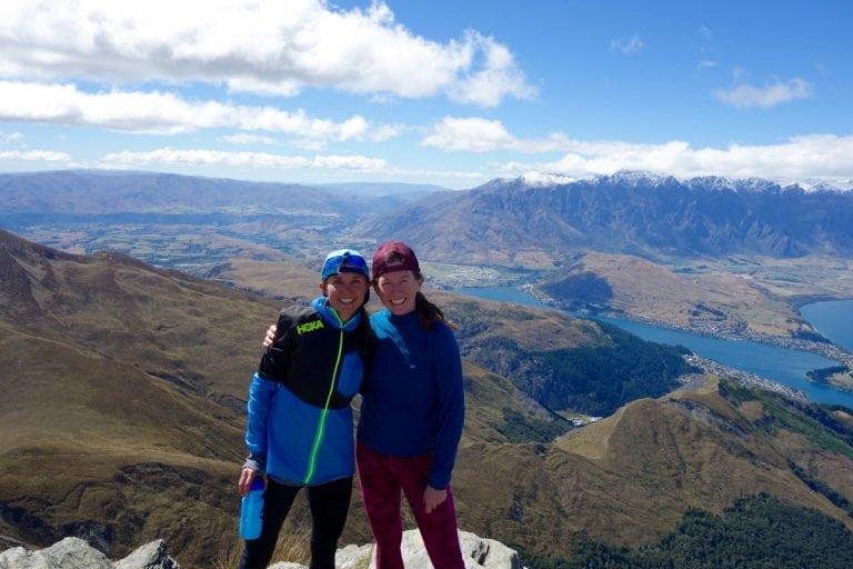 Magda Boulet and Meghan Hicks on Ben Lomond, New Zealand